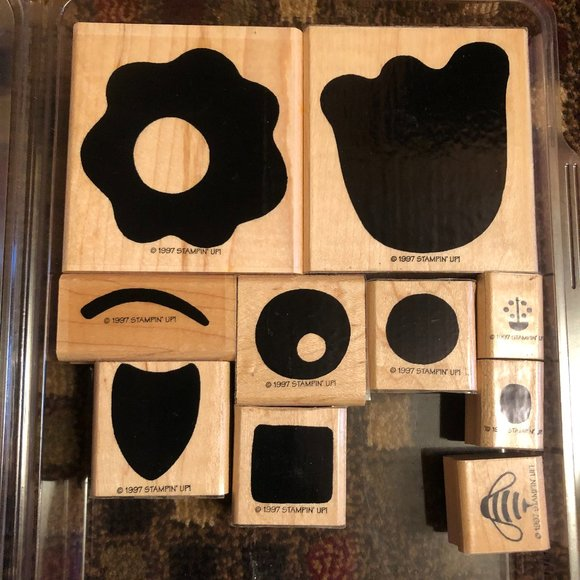 Stampin Up Posy & Bee stamp set - Wood